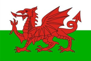 The Red Dragon - the Welsh flag