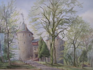 Castell Coch, from a watercolour by George Dolman