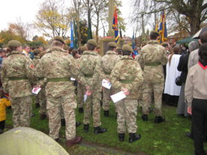 A Remembrance Day Service. A laugh was one of the weapons our lads used.