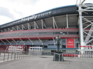 Wales's national stadium, the Principality Stadium, Cardiff, mentioned in 'Double Entry'.