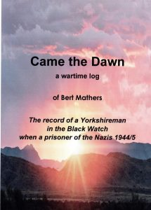 The cover of Came the Dawn, about a man locked up by the Nazis.